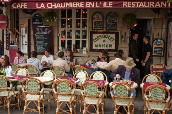 """""""Café """"""""La Chaumiere en L'Ile"""""""", Ile de St. Louis, Paris, France"""""""