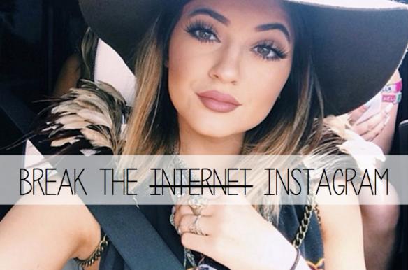 instagram da Kylie Jenner - boca